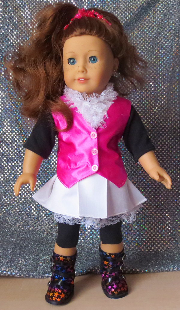 American Girl Sewing: Monster High Costume!! FREE vest pattern ...